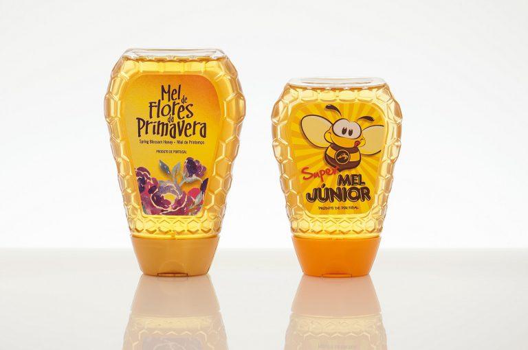 Rótulos de frascos de mel top down junior para a Apisland