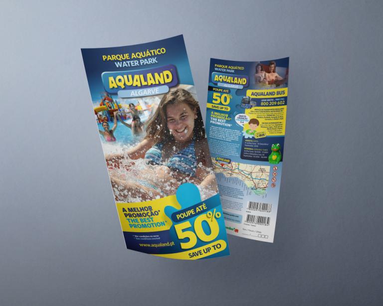 Design de folhetos de campanha do Aqualand