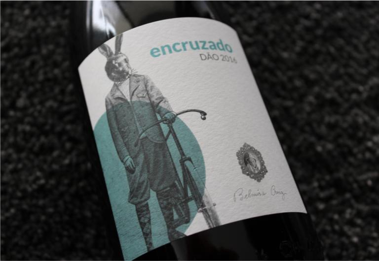 Rótulo de garrafa de vinho Encruzado Dão de Belmira Cruz
