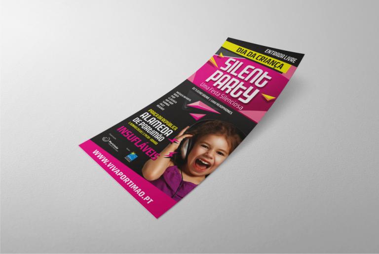 Flyer para o evento Silent Party para a Câmara Municipal de Portimão