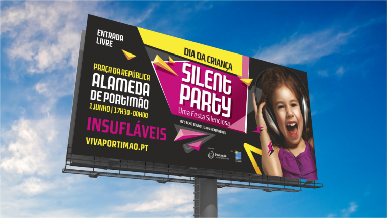 Outdoor para o evento Silent Party para a Câmara Municipal de Portimão