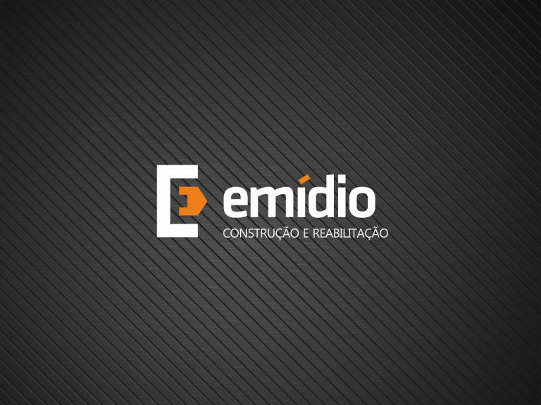 Design do logo Emídio Construção e Reabilitação