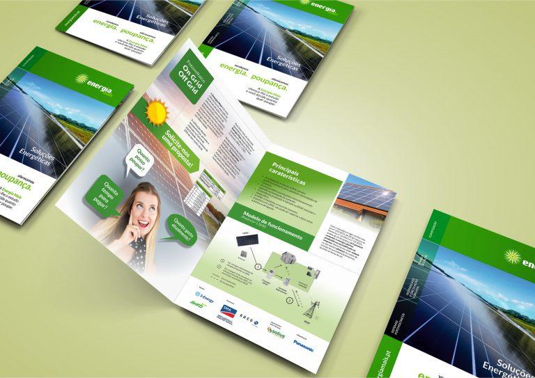 Design de brochura para a Energia Mais