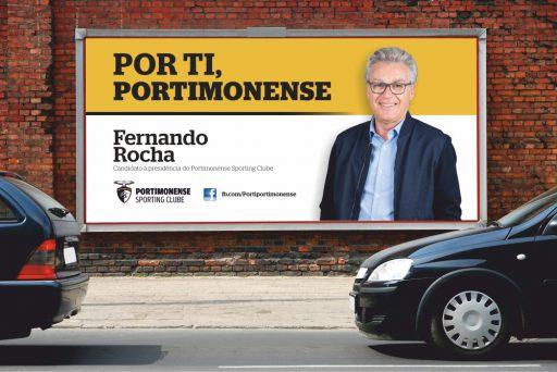 Outdoor de campanha do Por ti, Portimonense à eleição para a presidência do Portimonense Sporting Clube