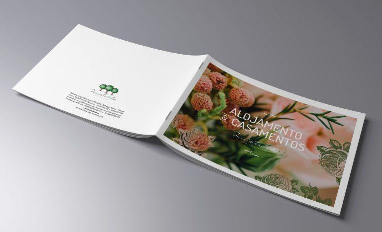 Capa de brochura para evento da Quinta dos Is