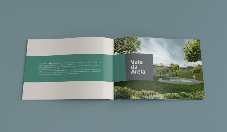 Interior de brochura do projeto Vale da Areia do arquiteto Ricardo Pina