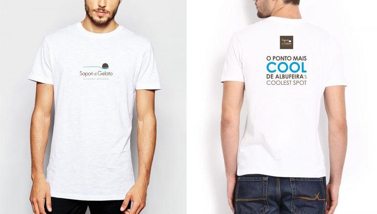 Estampado de t-shirt para a Sapori di Gelato