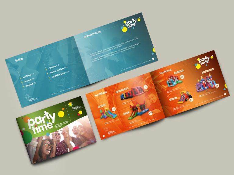 Interior da brochura para a Terra da Perfeição